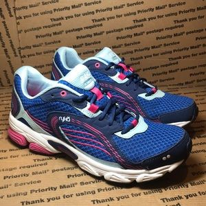 Ryka Ultimate Womens Running Shoe Blue / Pink